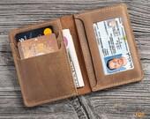 Personalized Leather Wallet For Men, Front Pocket Wallet, Minimalist Wallet, Leather Card Holder, Slim Wallet, Custom Mens Leather Wallet.