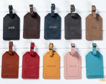 Real Leather Luggage Tags, Personalized Luggage Tags, Leather Luggage Tags, Personalized leather Luggage Tags, Bag Tags, Leather Bag Tags
