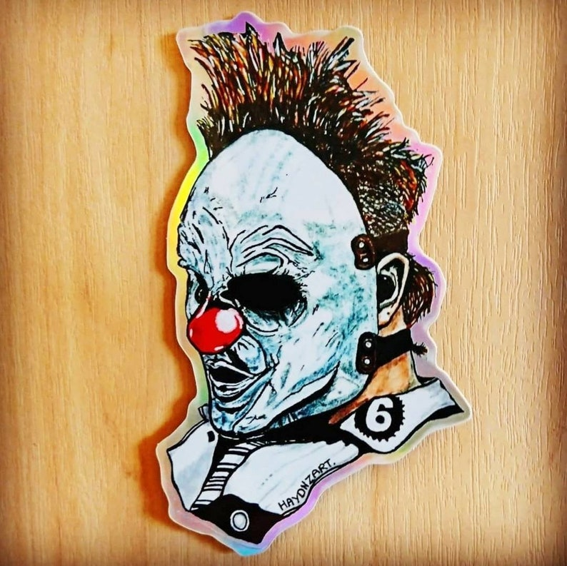 Slipknot WANYKlown part holographic sticker.