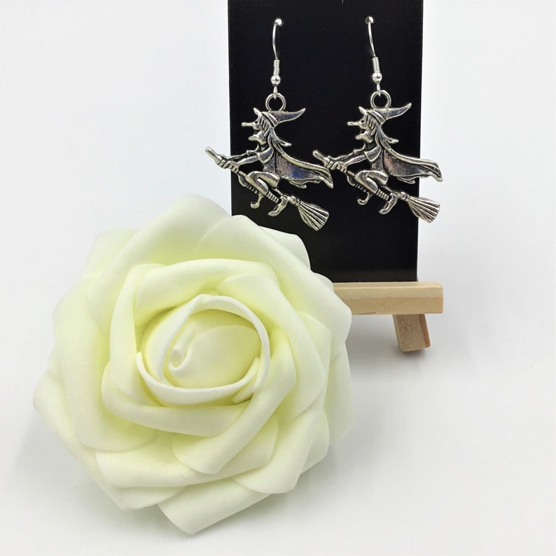 Witch Earrings Pagan Wicca Coven Earrings Wiccan Witchcraft Jewellery Broomstick Birthday Valentine/'s Gift Daughter Sister Girlfriend Friend
