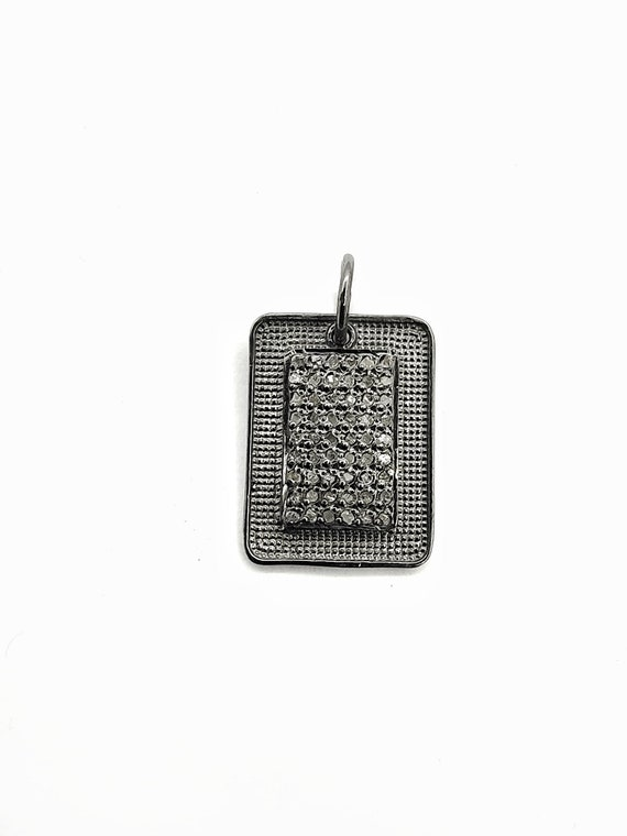 40mmx17mm Bd119 1 PC Pave Diamond Designer Charm Adjustable Bracelet 925 Sterling Silver Bracelet Charm Size