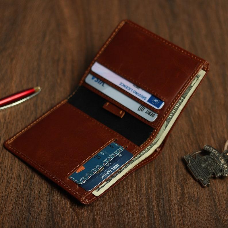 Men's Leather Wallet Gift for Men Handmade Leather image 0