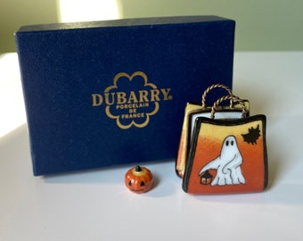 Rare Vintage Collectible Dubarry Elda Creations French Limoges Halloween Trinket Box Hand Painted