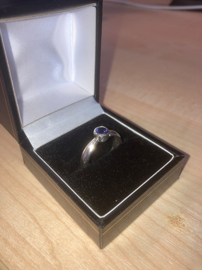 handmade Sterling silver solitaire ring