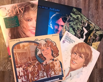 5 Used LP Soft Rock Mystery Box