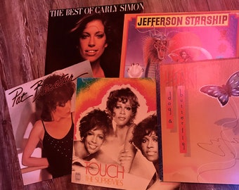 5 Used LP Ladies-Who-Rock Mystery Box