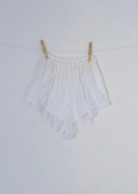 Vintage YSL White Slip Shorts