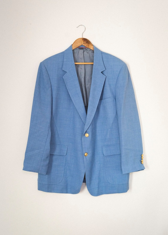 Marge Vintage Blue Oversized Blazer