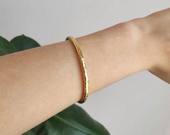 18k Gold Plated over Brass Leaf Bracelet Adjustable Leaf Bangle Cuff Open Dainty Pendant HarperCrown Wholesale B345