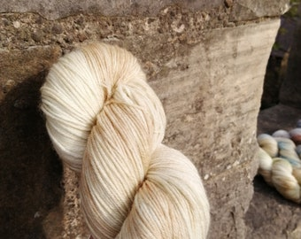 WEST SANDS Hand Dyed Yarn 4ply  DK  Aran Merino Cashmere Nylon  Blue Faced Leicester