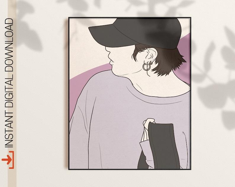 kpop gift Bts Jungkook Room Decor Bts Gift Kpop Poster Digital Download BTS Jungkook Airport Fashion Art Bts Jungkook Printable Poster