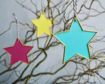 Christmas Star ANY COLOUR - Ornament - Hanging Decoration - Minimalist - Decor - Tree - Eco Friendly - 3D Printed - Plant Based Plastic