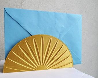 ANY COLOUR Sunburst Letter Rack - Minimalist - Plant based - 3D Printed - Homeware - New Home - Eco Friendly - Geometric - Gold