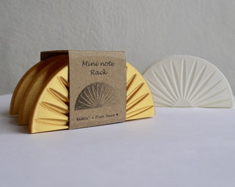 ANY COLOUR Mini Note Holder - Minimalist - Plant based - 3D Printed - Homeware - New Home - Eco Friendly - Geometric - Gold