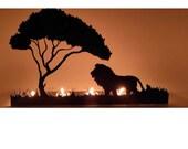 Five Lion King Metal Candle Holder
