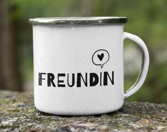 Enamel Cup/Camping Mug Family: Girlfriend