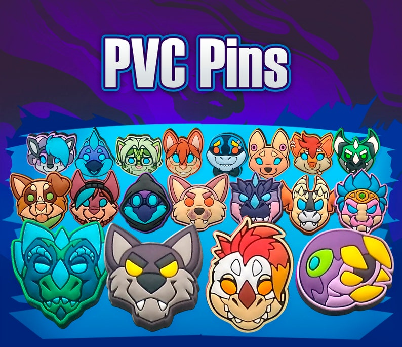 PVC Pins  4 Pack // Furry Fantasy image 0