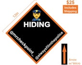 Police Hiding Sign With Velcro