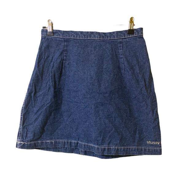 Vintage stussy skirt denim