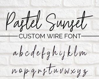 CUSTOM WIRE WORDS // Pastel Sunset font | wire sign | wire wall art | wall phrase | wall quote | custom home decor | personalized sign