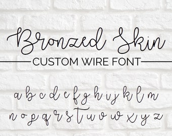 CUSTOM WIRE WORDS // Bronzed Skin font | wire sign | wire wall art | wall phrase | wall quote | custom home decor | personalized sign