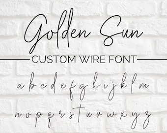 CUSTOM WIRE WORDS // Golden Sun font | wire sign | wire wall art | wall phrase | wall quote | custom home decor | personalized sign