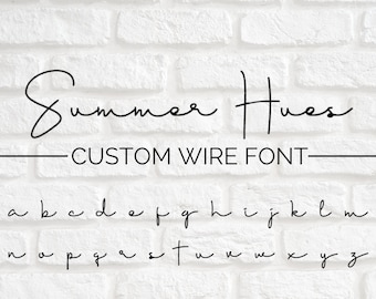 CUSTOM WIRE WORDS // Summer Hues font | wire sign | wire wall art | wall phrase | wall quote | custom home decor | personalized sign