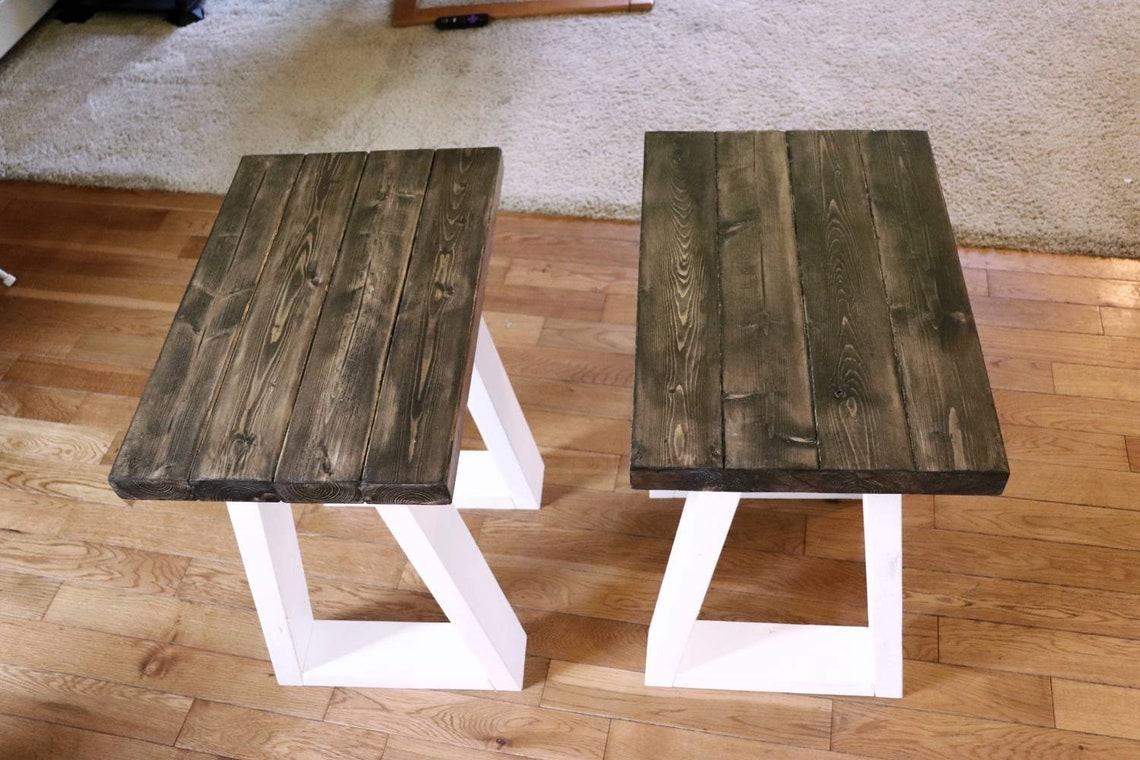 Farmhouse Style End Table