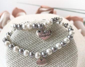 Grandma & granddaughter Bracelets / Grandma bracelet charm  / Granddaughter bracelet charm / Handmade Jewelry