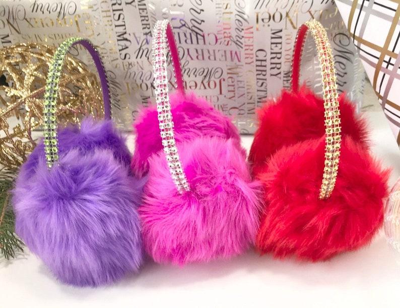 Winter Accessories Gift for Her . Red Earmuffs Pink Earmuffs Purple Girls Earmuffs Birthday Gift Ideas