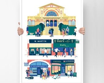 Muswell Hill London Wall Art or Alexandra Palace poster as First Mothers Day gift, Best Friend Gift, Anniversary Gift in A2 or A3