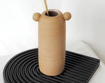 N13 Handmade vase | Pottery pot | Ceramic home decor | ceramics | Accent piece | clay Shelf decor | Modern home decor| home gifts | bud vase