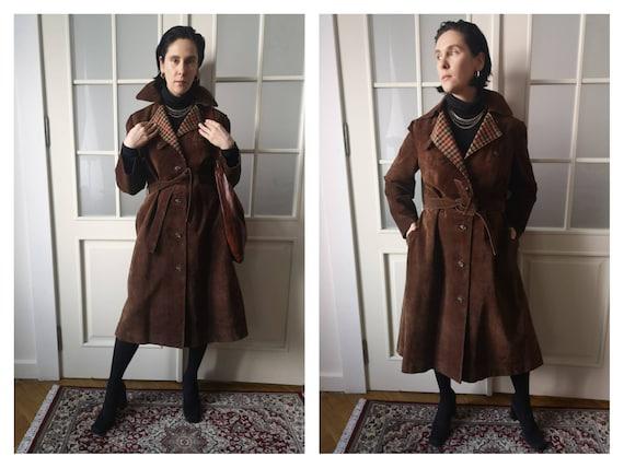 Vintage 1970s suede chocolate brown coat vintage s