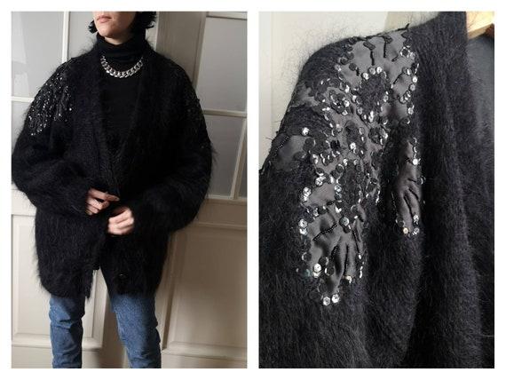 Vintage  Mohair cardigan  embroidery seguino warm
