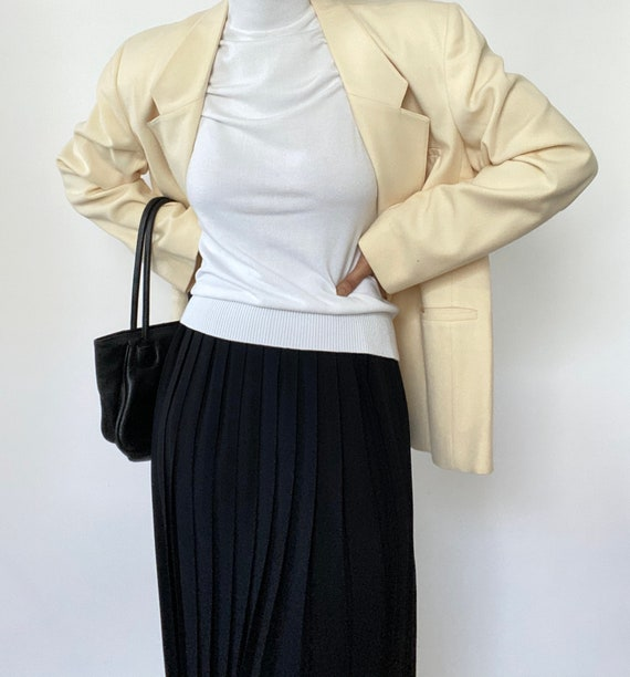 Vintage '60s Black Pleated Skirt