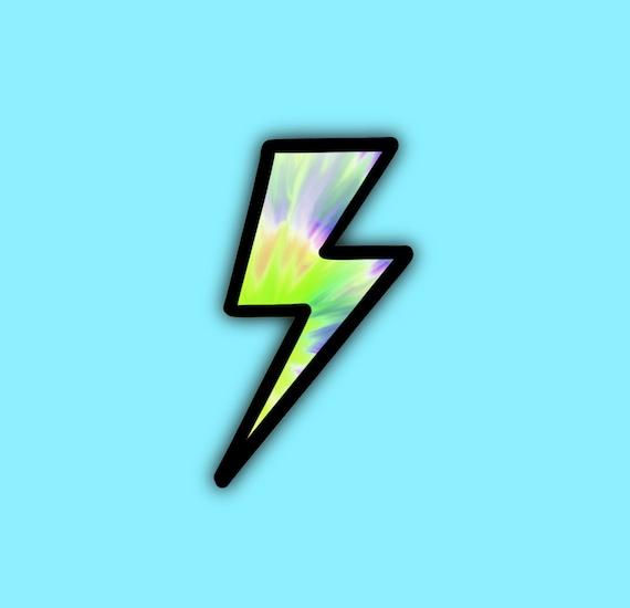 Tye Dye Crayon lighting bolts