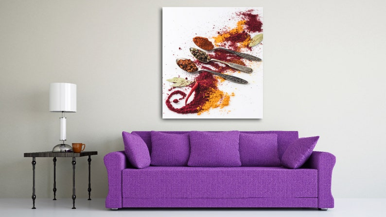 Pictures Of Spices Spices Poster White Spices  Art Canvas Wall Art Portrait On Canvas Beautiful Composition Spices Composition