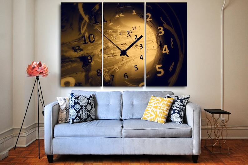 Futuristic Art Wall Art | Wall Clock l Wall Art Clock l Canvas Art Timeless Clock Art Decor Futuristic Decor Illustration Print