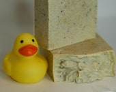 Small Batch Handcrafted lemon poppy seed soap, cold process soap, homemade soap,  handmade soap, all natural soap, gift soap, lemon grass