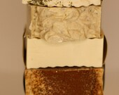 Small Batch Handcrafted cold process soap sampler, gift soap, all natural soap, handmade soap, artisan soap, homemade soap