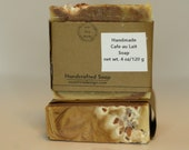 Small Batch Handcrafted cafe au lait soap, cold process soap, homemade soap,  handmade soap, all natural soap, gift soap, artisan soap