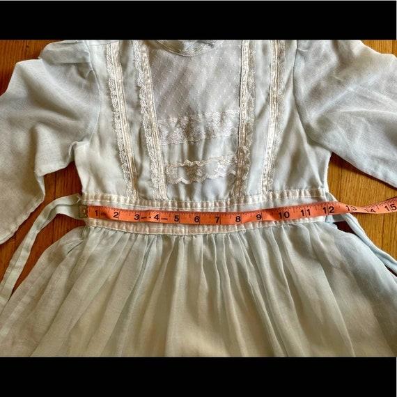 70s Vintage Gunne Sax Blue Midi Prairie Dress - image 9