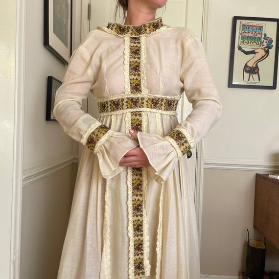 60s Vintage Gunne Sax Prairie Dress - image 3