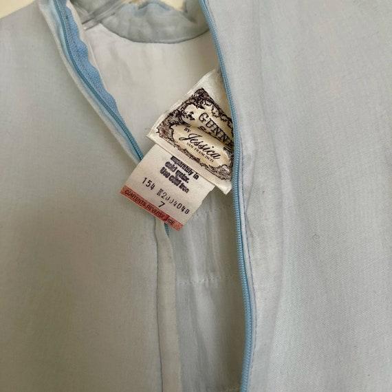 70s Vintage Gunne Sax Blue Midi Prairie Dress - image 4