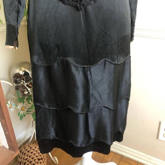 20s Vintage Welmade Satin Flapper Dress - image 10