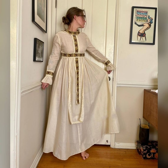 60s Vintage Gunne Sax Prairie Dress - image 1