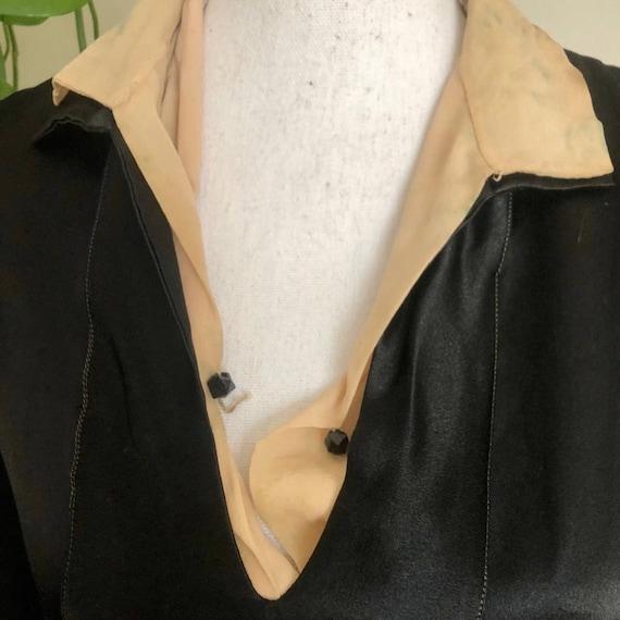 20s Vintage Welmade Satin Flapper Dress - image 7