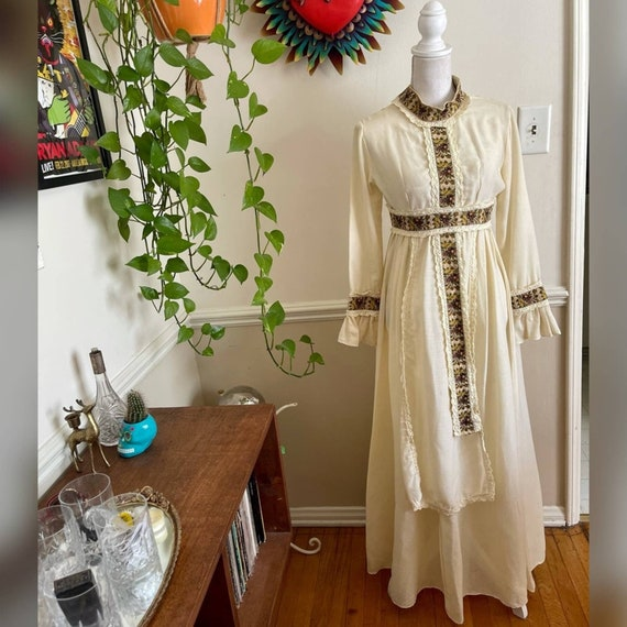 60s Vintage Gunne Sax Prairie Dress - image 4