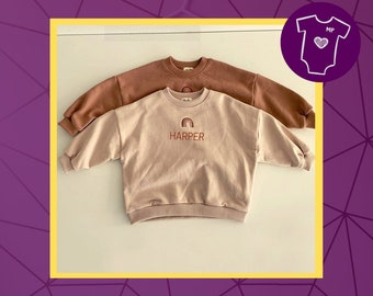 Personalised Rainbow Jumper / Sweater for baby / toddler / child / kids
