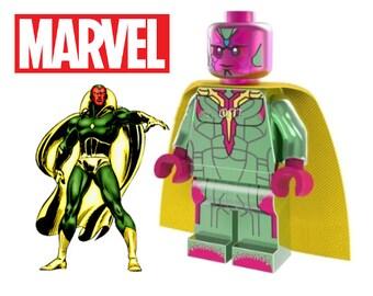 NEW MARVEL VISION MINIFIGURE FIGURE USA SELLER LEGO
